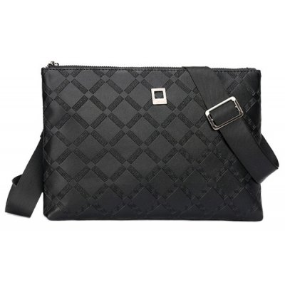 Faux Leather Embossed Clutch Bag