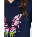 best Hooded Embroidered Long Sweatshirt with Pocket
