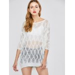 cheap Batwing Sleeve See Through Cover-Up