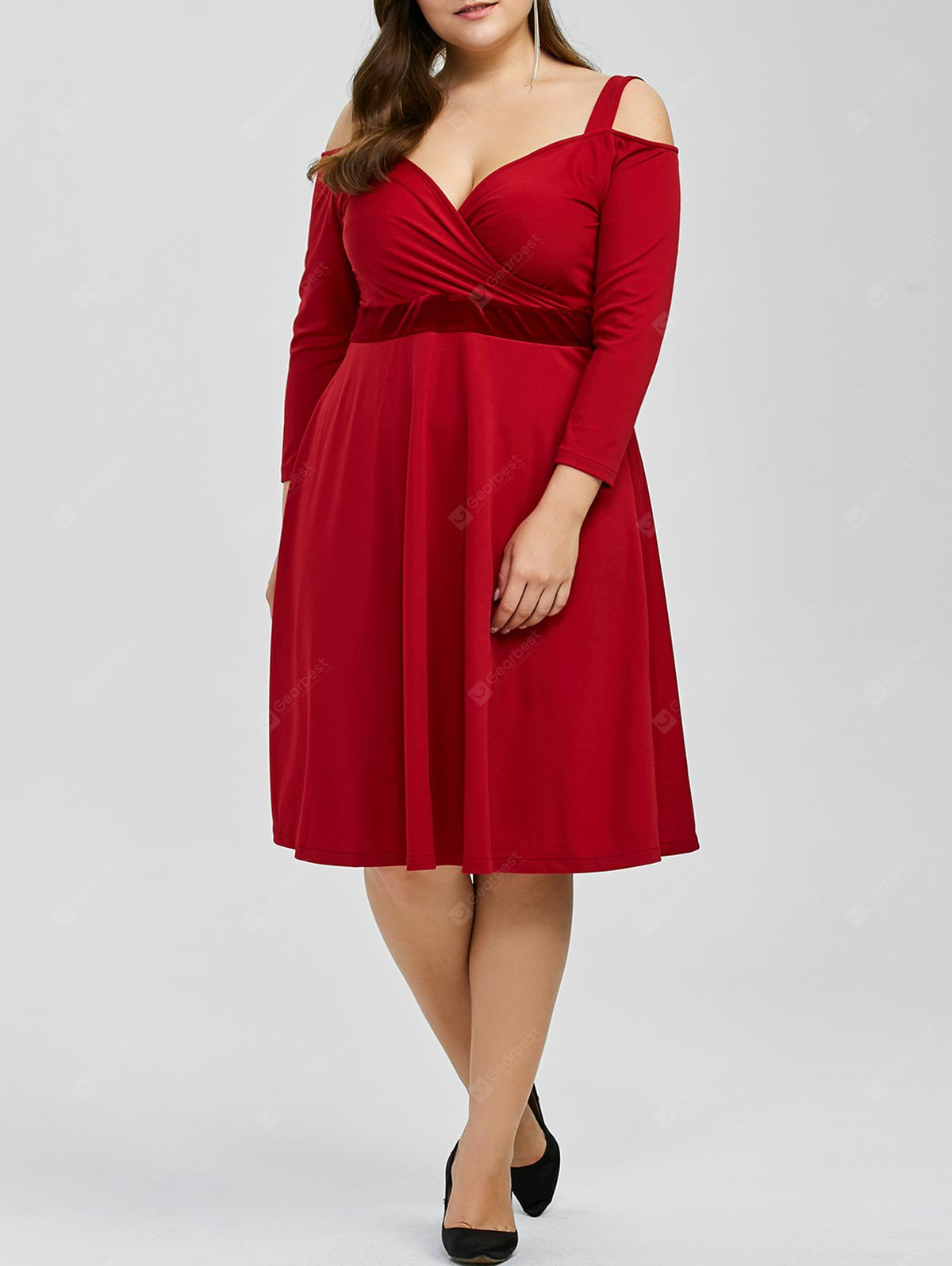 Cold Shoulder Plus Size Maid of Honor Dress