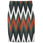 Zig Zag Midi Faux Suede Skirt deal