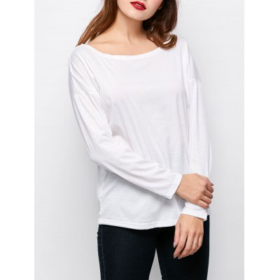 Plain White Long Sleeve T Shirt