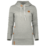 Badge Patch High Neck Hoodie
