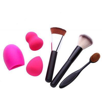 3 Pcs Makeup Brushes + Beauty Blenders + Brush Egg