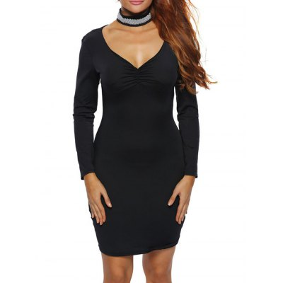 Back Cut Out Bodycon Party Dress