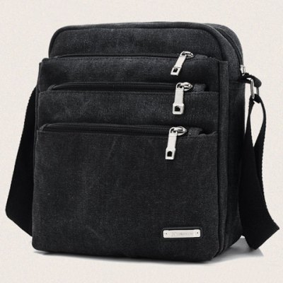 Canvas Multi Zippers Crossbody BagCrossbody Bags<br>Canvas Multi Zippers Crossbody Bag<br><br>Closure Type: Zipper<br>Gender: For Men<br>Height: 27CM<br>Length: 23CM<br>Main Material: Canvas<br>Package Contents: 1 x Crossbody Bag<br>Pattern Type: Solid<br>Weight: 0.3600kg<br>Width: 12CM