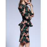 Floral Fitted Peplum Dress deal