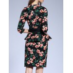 Floral Fitted Peplum Dress for sale
