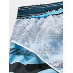 Color Block Striped Panel Print Board Shorts deal
