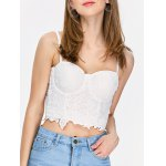Embroidered Lace Underwire Corset Top