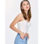 Embroidered Lace Underwire Corset Top deal