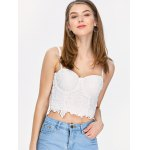 cheap Embroidered Lace Underwire Corset Top