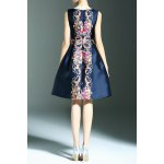 best Stylish Round Neck Sleeveless Elegant Printed Women's Dress