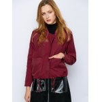 cheap Drawstring Waist Zip  Jacket
