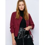 Drawstring Waist Zip  Jacket deal