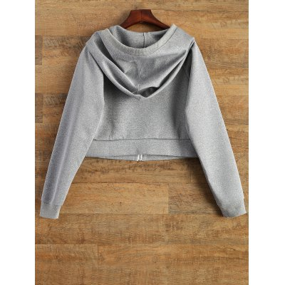 Hooded Cropped Sports Jacket