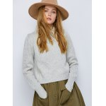 Crew Neck Heathered Lace-Up Sweater deal