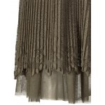 Pleated Mesh Panel Lace Skirt for sale