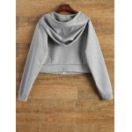 cheap Hooded Cropped Sports Jacket