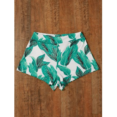 Green Tropical High Waisted Patterned Shorts 2XL-$15.75 Online ...