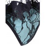 Underwire Lace Panel Steel Boned Corset for sale