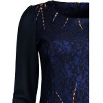 Lace Panel Printed Fitted Dress deal