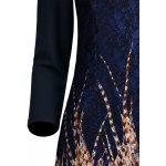 best Lace Panel Printed Fitted Dress