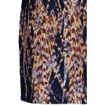 Lace Panel Printed Fitted Dress photo