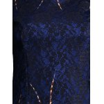 Lace Panel Printed Fitted Dress for sale