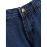 Two Tone Frayed Hem Wide Leg Jeans for sale