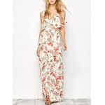 Overlayed Floral Print Maxi Dress