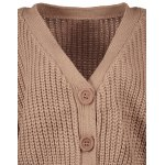 V Neck Cropped Chunky Cardigan for sale