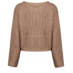 V Neck Cropped Chunky Cardigan deal
