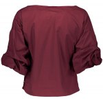 Belted Puffed Sleeve Crossover Blouse for sale