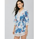 Lace Trim Paisley Mini Dress deal