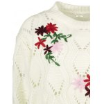 best Cut Out Floral Embroidered Sweater