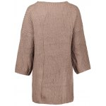 Relaxed Fit Long Sleeve Knitted Tunic Dress for sale