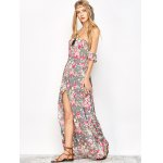 Maxi Off Shoulder Floral Beach Dress with Slit for sale