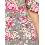 Maxi Off Shoulder Floral Beach Dress with Slit photo