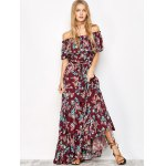 Off The Shoulder Maxi Floral Flowing Dress for sale