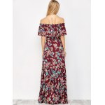 Off The Shoulder Maxi Floral Flowing Dress photo