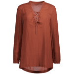 Lace Up Long Sleeve Top deal