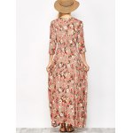 Button Front Floral Casual Summer Maxi Dress photo
