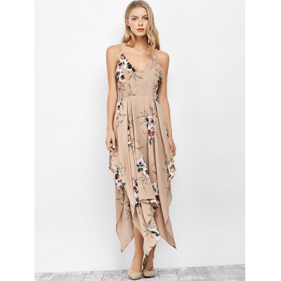 Floral Maxi Handkerchief Casual Slip DressSleeveless Dresses<br>Floral Maxi Handkerchief Casual Slip Dress<br><br>Dresses Length: Ankle-Length<br>Embellishment: Backless<br>Material: Polyester<br>Neckline: Spaghetti Strap<br>Package Contents: 1 x Dress<br>Pattern Type: Floral<br>Season: Summer<br>Silhouette: A-Line<br>Sleeve Length: Sleeveless<br>Style: Bohemian<br>Weight: 0.2800kg<br>With Belt: No