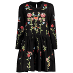 Drop Waist Floral Embroidered Dress photo