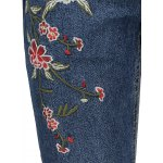 Straight Leg Embroidered Jeans photo