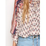 Lace Up Dolman Sleeve Top photo