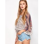Lace Up Dolman Sleeve Top for sale