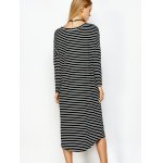 best Striped Long Sleeve Tee Dress