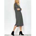 Striped Long Sleeve Tee Dress for sale
